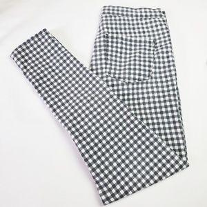 Topshop Checkered Moto Joni Jeans
